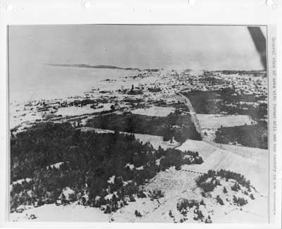 Aerial View of Thessalon, Looking West, circa 1935