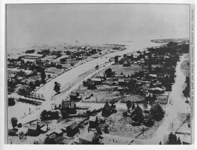 Aerial view of Thessalon River, circa 1935