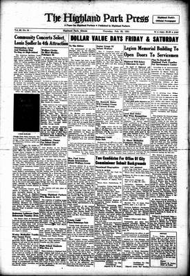 Highland Park Press, 22 Feb 1951