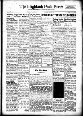 Highland Park Press, 5 Apr 1951