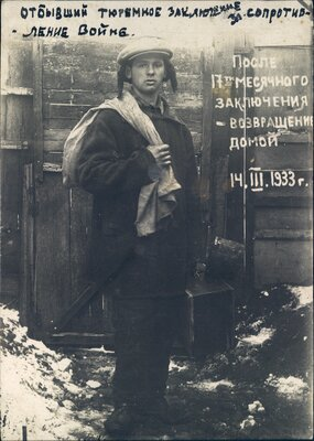 Boris Bokan returns home after his seventeen-month imprisonment for opposing conscription into the Soviet Army.