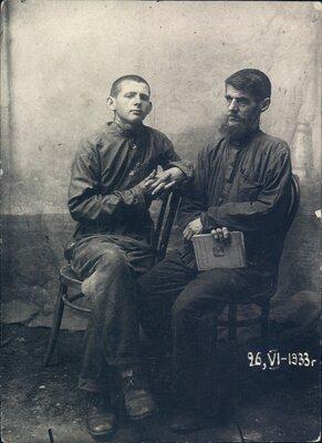 Boris and Nikolai Bokan, seated.