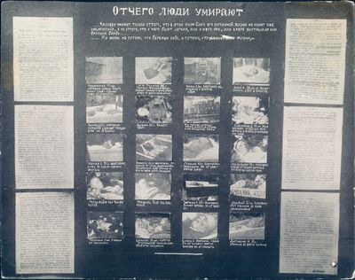 """Photo Display Board: """"Causes of Death"""""""