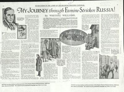 My Journey through Famine-Stricken Russia!