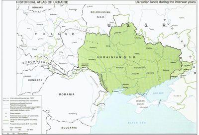 Historical Atlas of Ukraine, Ukrainian lands during the interwar years