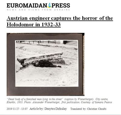"""Austrian Engineer Captures the Horror of the Holodomor in 1932-33."""