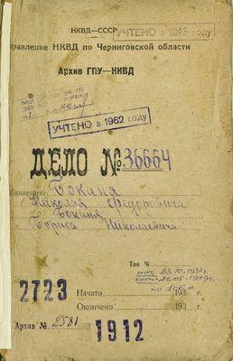 Cover of the case file of Nikolai and Boris Bokan