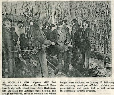 Dean Lake Bridge Renovations Celebration, 1988