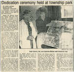 Township Park Dedication Ceremony, Dean Lake,Circa 1980