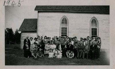 Iron Bridge United Church Reunion - 1945