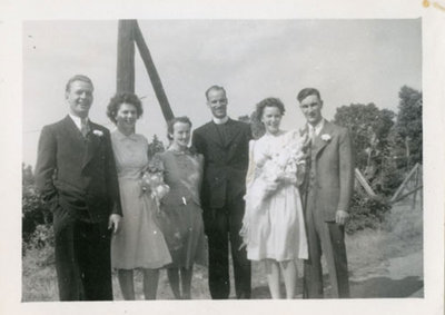 Wedding of Betty Larone and Ted McClelland - Summer 1945