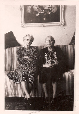 Ida Warnock and Hulda Allen - Circa 1965