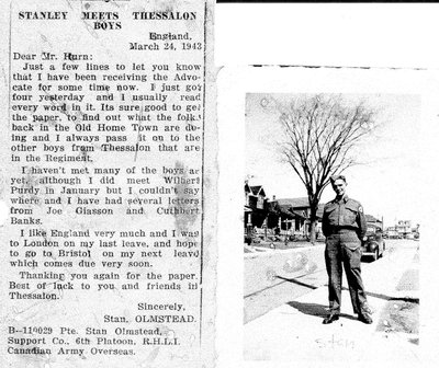 Stanley Meets Thessalon Boys - March 24, 1943