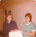 Ruth Montgomery receiving Provincial Honors Award, Iron Bridge, 1972