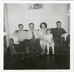 Gordon Seabrook Family, Iron Bridge, Circa 1953