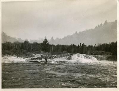 Slate Falls, Missisagi River, Circa 1950