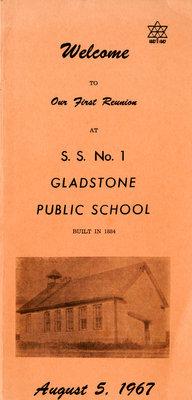 Gladstone Public School Reunion Brochure, 1967