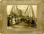 Opening of Thompson Bridge, Dean Lake, 1908