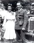 Wedding Photo Of Bill and Goldie Minion, Circa 1940