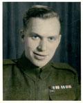 Portrait of Edward Harvey Lessard In Uniform, Circa 1940