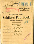 Joseph Lloyd Green's Canadian Army Soldiers Pay Books, 1942