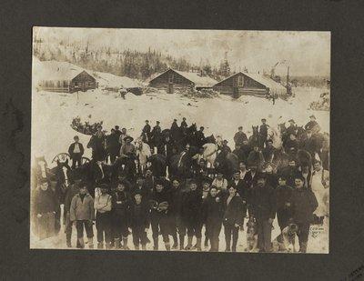 Eddie Bros Lumber Camp, Blind River, Circa 1900