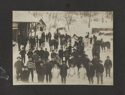 Group Of Men At Eddie Bros Lumber Camp, Blind River, Circa 1920