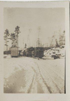 Lyn Tractor With Ski's Circa 1930