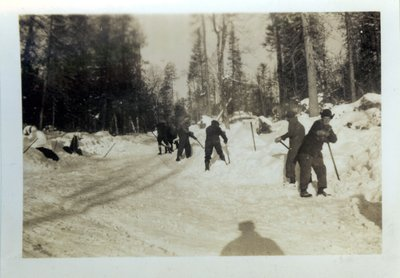 Group Of Men Shoveling At Camp, 1932