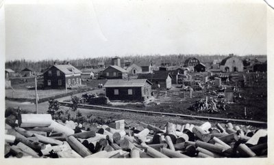 Wood Dump Outside of Unidentified Town, Circa 1940