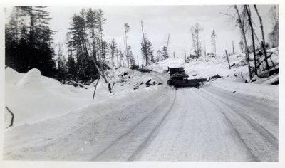 Hauling Logs, Winter Circa 1940