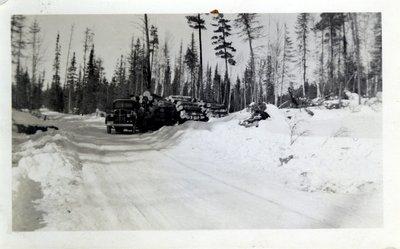 Truck Hauling Logs, Circa 1940