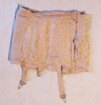 Peach Girdle With Garters Attached, Circa 1940