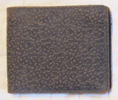 Men's Brown Leather Wallet, Circa 1940