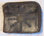 Mens Leather Wallet With Studded 'Star' Design, Circa 1930