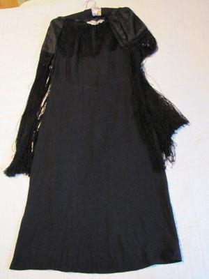 Long Black Dress With Fringe, Circa 1930