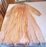 Full Length Peach Silk Gown With Matching Robe, Circa 1930
