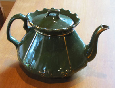 Green China Tea Pot, Circa 1930