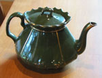 Green China Tea Pot, Circa 1930