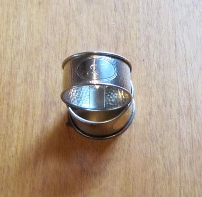 Silver Napkin Rings, Circa 1940