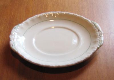 Small White Oval Plate, Circa 1940