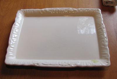 White China Platter, Circa 1900