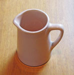 Small Peach Colored China Creamer, Circa 1940