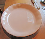 Large Peach Colored China Serving Tray, Circa 1940