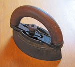 Sad Iron #2 With Wooden Handle,Circa 1930