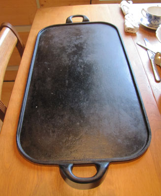 Cast Iron Pancake Griddle, Circa 1910