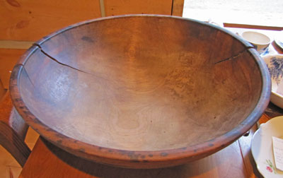 Wooden Butter Bowl, Circa 1910