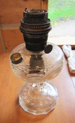 Glass Aladdin Lamp, Circa 1920