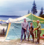 Lyle Eaket, Kevin Bell, and Jack Humphries, Big Massanobie Lake, 1969