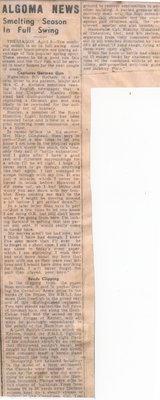 """Captures German Gun"", Newspaper Clipping, 1943"